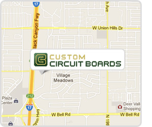Custom Circuit Boards Location Map